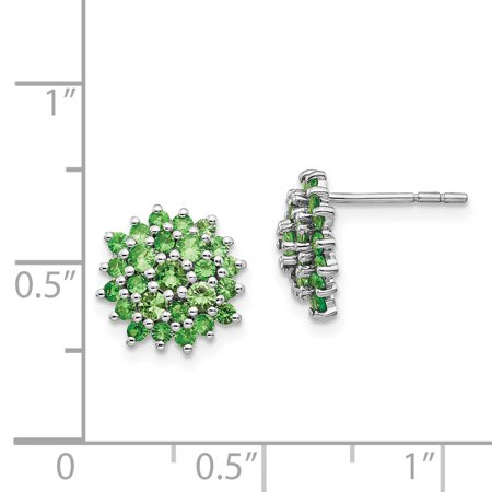 b271d37d1 925 Sterling Silver Tsavorite Red Garnet Round Post Stud Earrings Ball  Button Fine Jewelry Gifts For ...