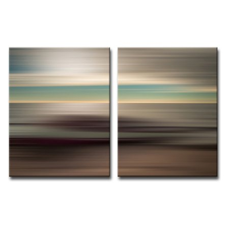 Ready2HangArt Blur Stripes XLI Wrapped Canvas Wall Art - Set of 2 ()
