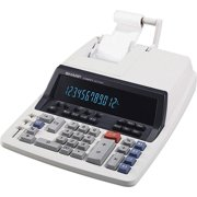 Sharp Calculators, SHRQS2760H, QS-2760H 12-Digit Professional Heavy-Duty Commercial Printing Calculator, 1 Each, Off White,Gray