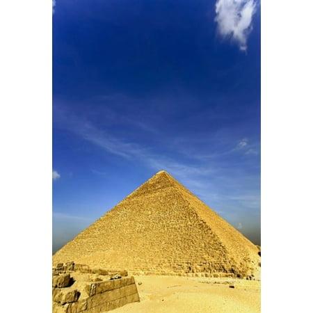 Great Pyramid of Giza Khufu Cheops Cairo Egypt Stretched Canvas - Adam Jones  DanitaDelimont (12 x (Khufu Pyramid Giza)