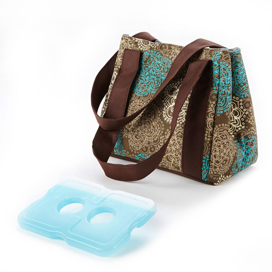 Fit & Fresh Venice Insulated Lunch Bag (Teal Floral) 378FF155