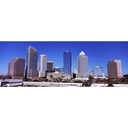 Skyscrapers in a city Tampa Florida USA Stretched Canvas - Panoramic Images (18 x 7) - Party City In Tampa Florida