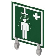 HUGHES SAFETY SHOWERS SS/BR Shower Sign with Brackets,12inHx10inW