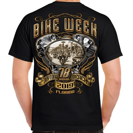 Biker Life 2019 Bike Week Daytona Beach Main Street Engine T-Shirt
