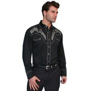 Scully Western Shirt Mens L/S Snap Boot Stitch Embroidered P-685