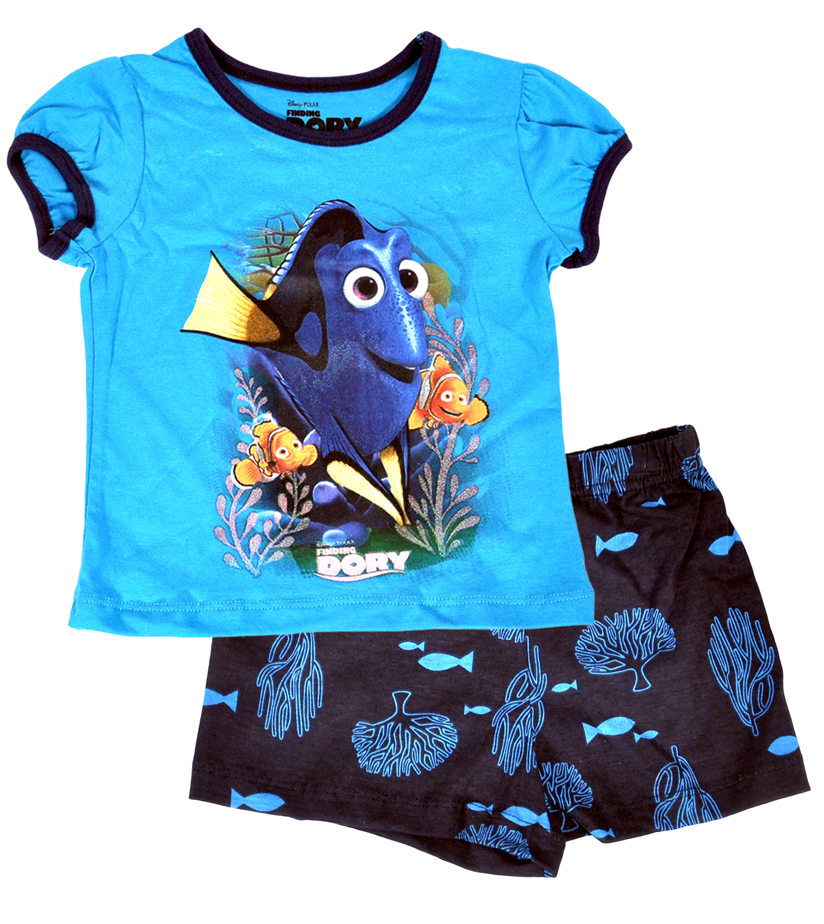 Pixar Finding Dory Toddler Girls 2-Piece Set Outfit T-Shirt & Shorts