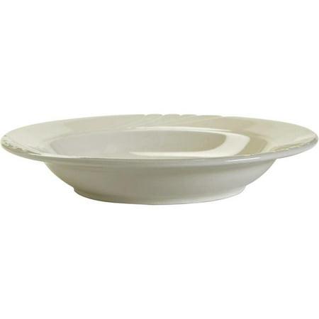 Large Rim Soup Plate - Tuxton China YPD-084 Sonoma 8.5 in. Embossed Plate Rim Soup-Pasta Bowl - Porcelain White - 2 Dozen