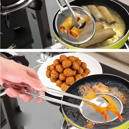 Ustyle Stainless Steel Filter Spoon with Clip Fried Food Chicken Drumsticks Colander Strainers Chicken Cushion Drinker Juice - image 7 of 7