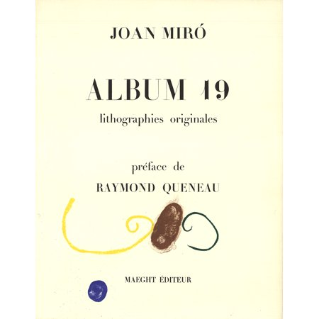 Joan Miro-Album 19-1961 Lithograph-SIGNED