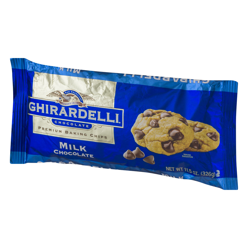 Ghirardelli Chocolate Milk Chocolate Baking Chips, 11.5 oz ...