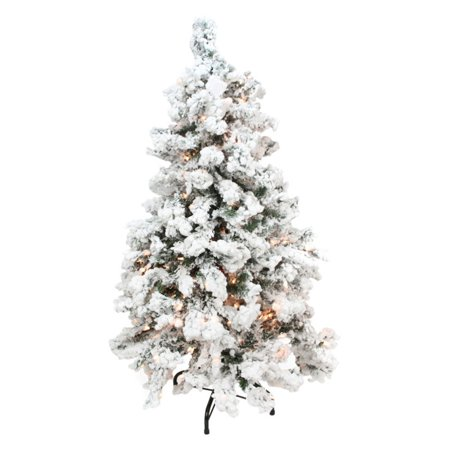 Heavily Flocked Medium Pine Pre-lit Christmas Tree - Northlight 3 Ft. Heavily Flocked Medium Pine Pre-lit Christmas Tree