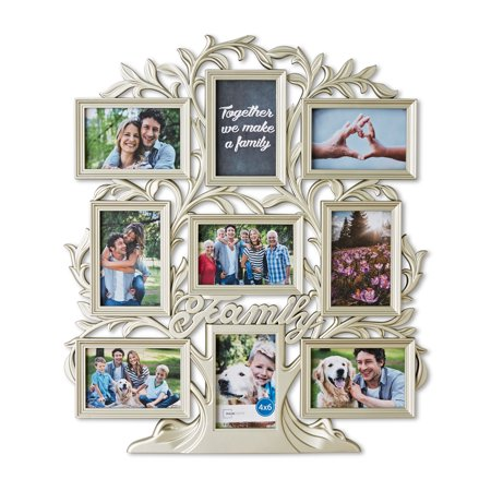 Mainstays 9 Opening Family Tree Wall Collage Picture Frame Multiple