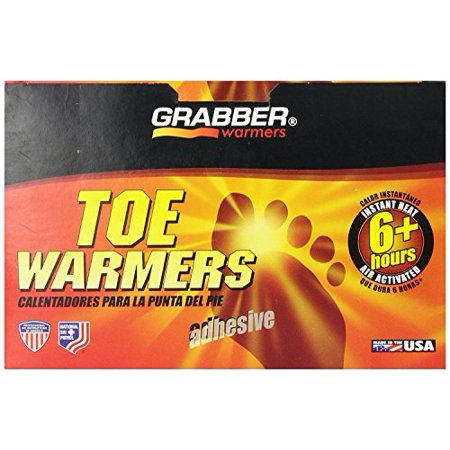 Grabber Warmers Grabber 6+ Hours Toe Warmers 80 Count Mega Size Package Hour Adhesive Toe Warmers