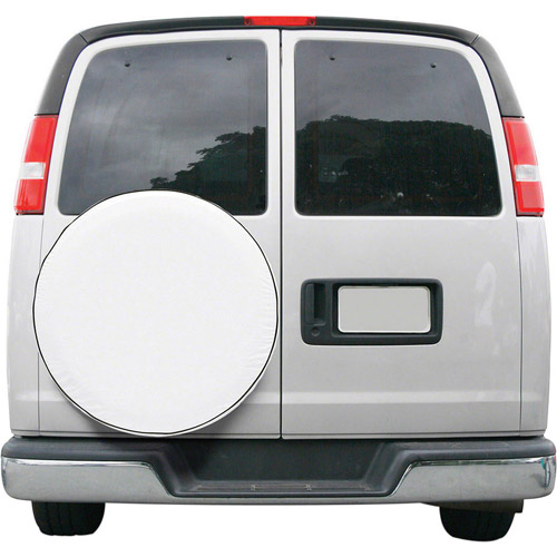 Classic Accessories Custom Fit Spare Tire Cover, Snow White