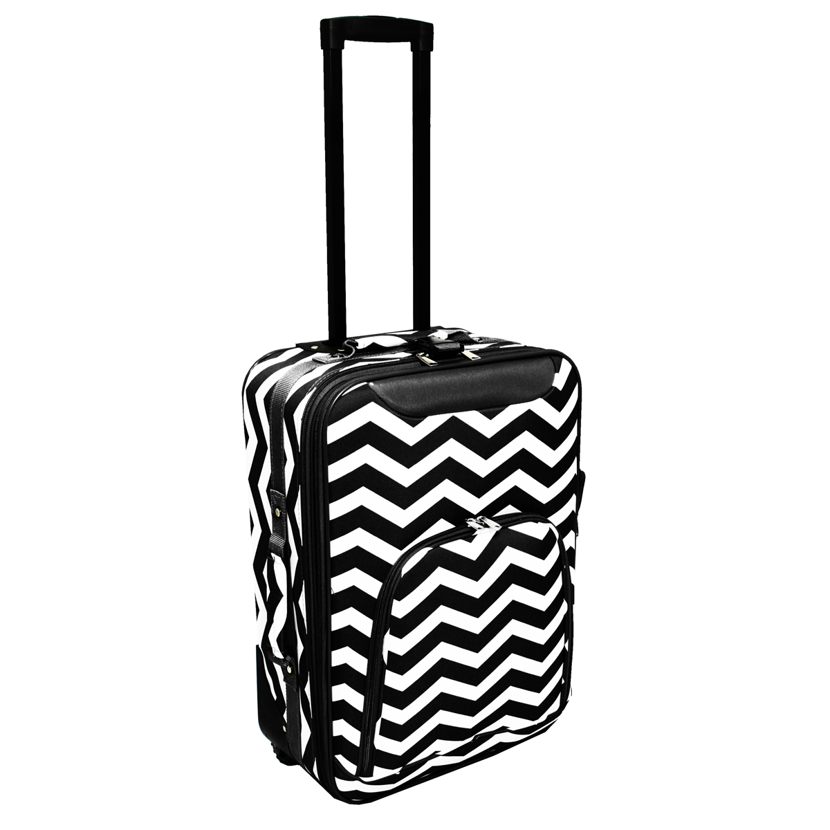 "All-Seasons Chevron Print 20"" Rolling Carry-On Luggage Suitcase"