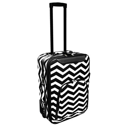 "Image of All-Seasons Chevron Print 20"" Rolling Carry-On Luggage Suitcase"