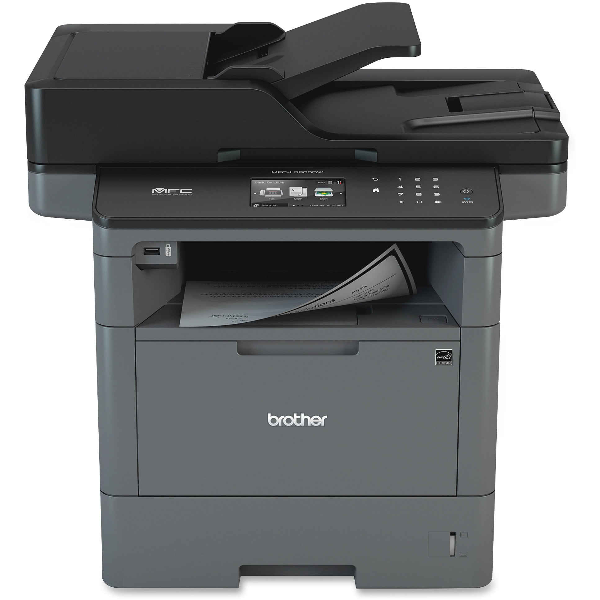 Brother MFC-L5800DW Wireless Monochrome All-in-One Laser Printer, Copy Fax Print Scan by Brother