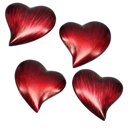 Modern Day Accents Corazon Small Heart Paperweight (Set of 4)