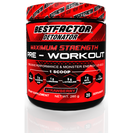 BESTFACTOR Detonator Pre Workout Powder Energy Drink For Men & Women by Best Factor. Increase Strength and get Explosive Performance. Maximum Preworkout Energy supplement for Top Results. 20