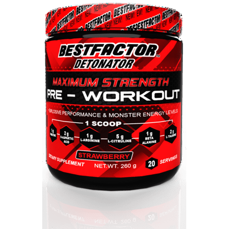 BESTFACTOR Detonator Pre Workout Powder Energy Drink For Men & Women by Best Factor. Increase Strength and get Explosive Performance. Maximum Preworkout Energy supplement for Top Results. 20 (Best Energy Drink For Studying)