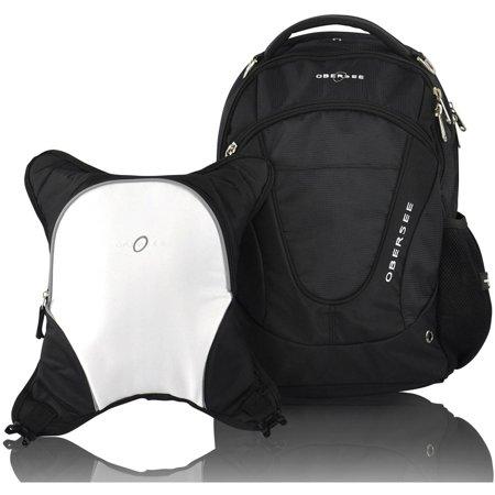 obersee oslo diaper bag backpack and cooler black white. Black Bedroom Furniture Sets. Home Design Ideas