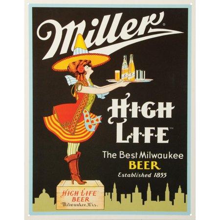 Tin Sign Budweiser Beer (Miller Beer Tin Concert Sign )