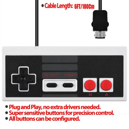 Replacement Controller with 6ft Extend Link Extension Cable For Nintendo NES Classic Edition - image 4 de 7