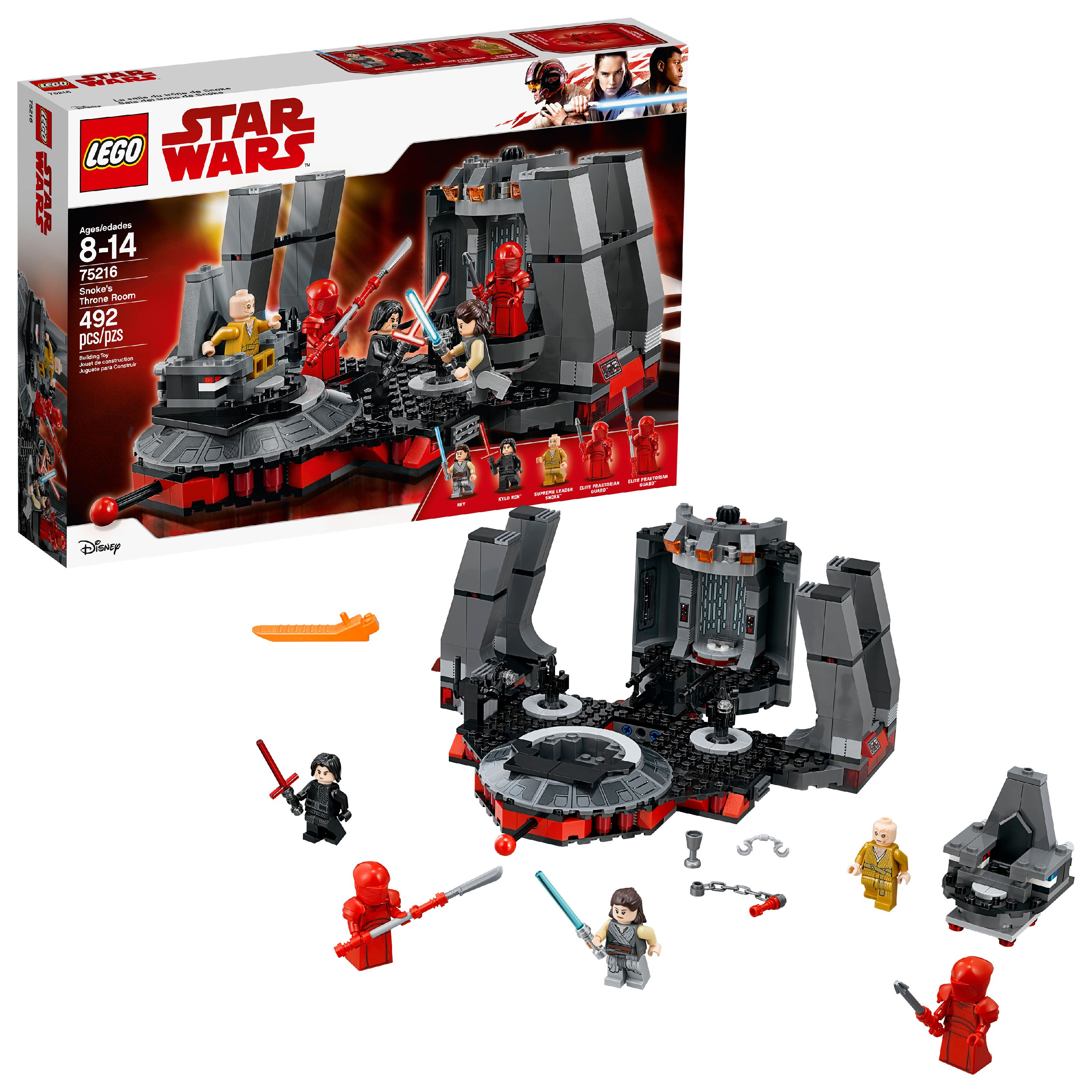 LEGO Star Wars TM Snoke's Throne Room 75216 (492 Pieces)
