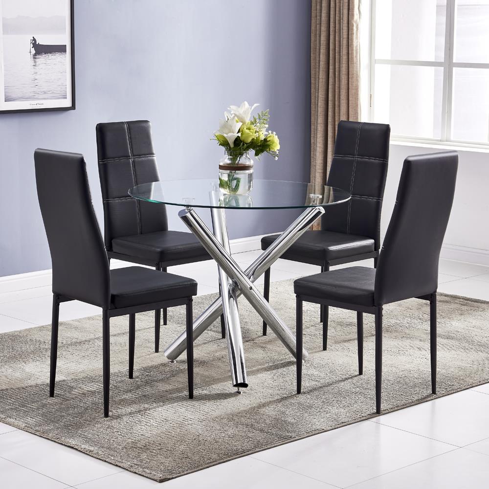 Winado 5 Piece Round Dining Table Set, Modern Kitchen ...