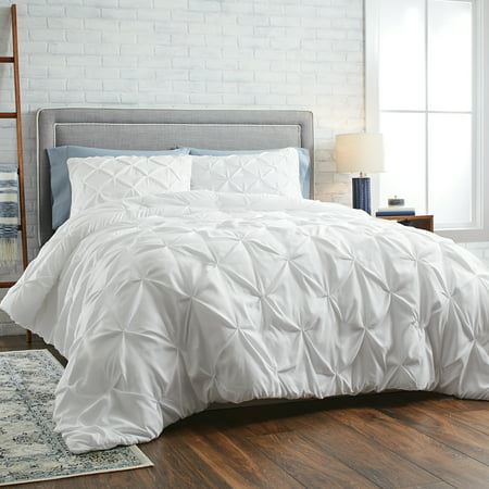 Better Homes & Gardens Full or Queen Pintuck Comforter Set, 3 Piece ()