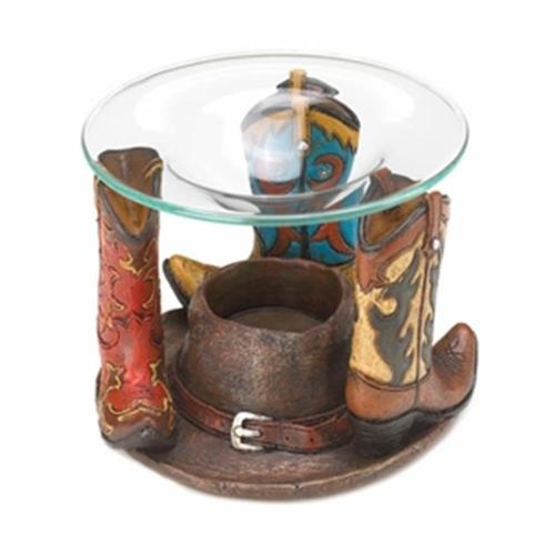 Zingz & Thingz Cowboy Boots Glass Oil Warmer