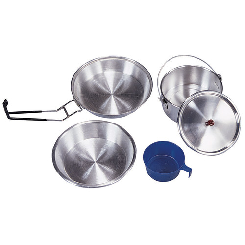 Stansport Mess Kit Heavy Duty Aluminum Polished by Stansport, Inc.