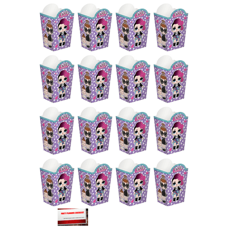 Party Favor Popcorn Boxes (L.O.L. Surprise LOL (16 Pack) Popcorn Treat Favor Party)