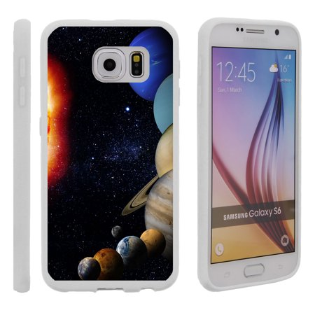 Samsung Galaxy S6 G920, Flexible Case [FLEX FORCE] Slim Durable TPU Sleek Bumper with Unique Designs - Planets Around the Sun