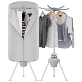 011b82fa648a5 Electric Portable Clothes Dryer - Laundry Drying Rack with High Powered  1000W Heater and Germ Killing UV Light Sanitation - Compact with 22Lb  Capacity - ...