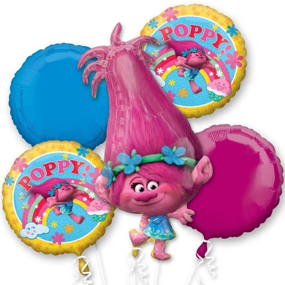 Trolls Poppy Foil Balloon Bouquet