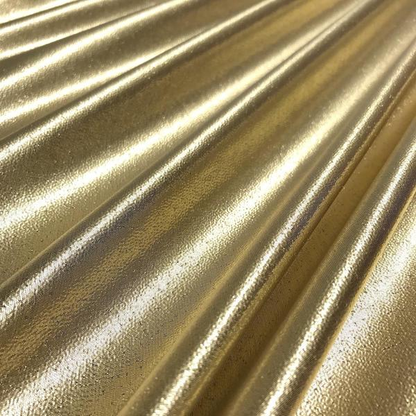 Tissue Lame Fabric Shiny 44'' Wide Craft Decoration Costume Design By the yard (Gold)