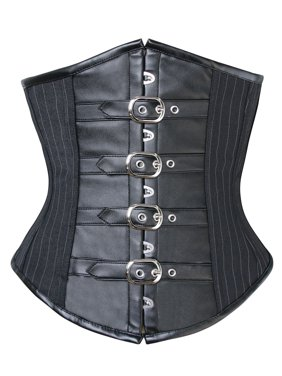 d46c7a98774 Product Image Charmian Women s Gothic Pinstripe Steel Boned Underbust Corset  with Buckles