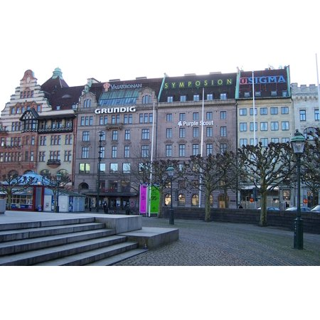 Canvas Print Malm Stor Torget Buildings Malmo Sverige Sweden Stretched Canvas 10 x