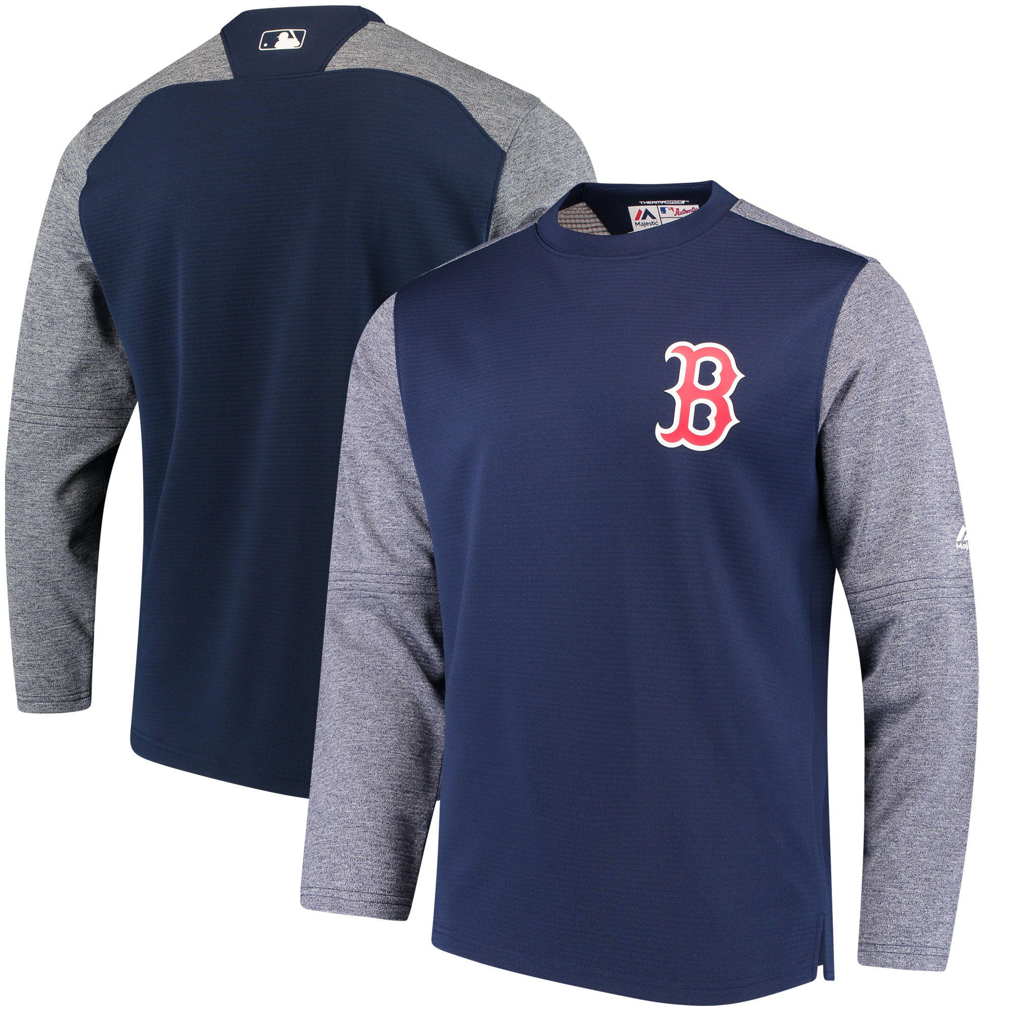Boston Red Sox Majestic Authentic Collection On-Field Tech Fleece Pullover Sweatshirt - Navy