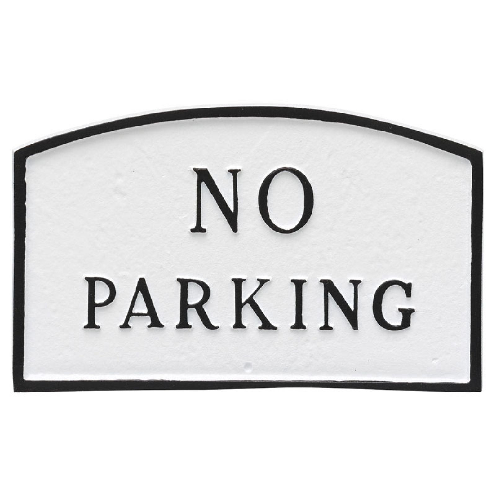 Montague Metal Products No Parking Arched Wall Plaque
