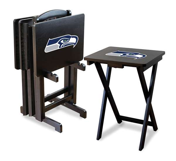 Seattle Seahawks  TV Tray Set with Rack