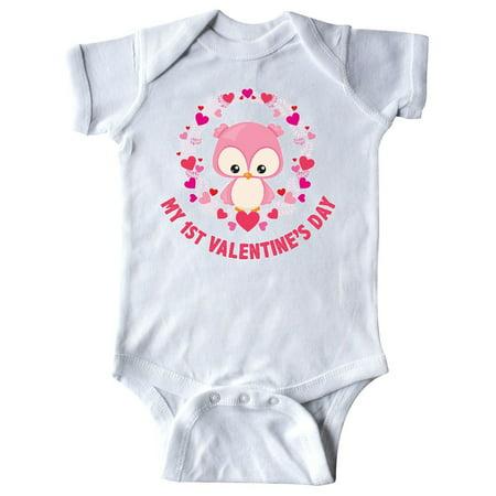 My First Valentine's Day Owl Infant Creeper](Valentine Owl)