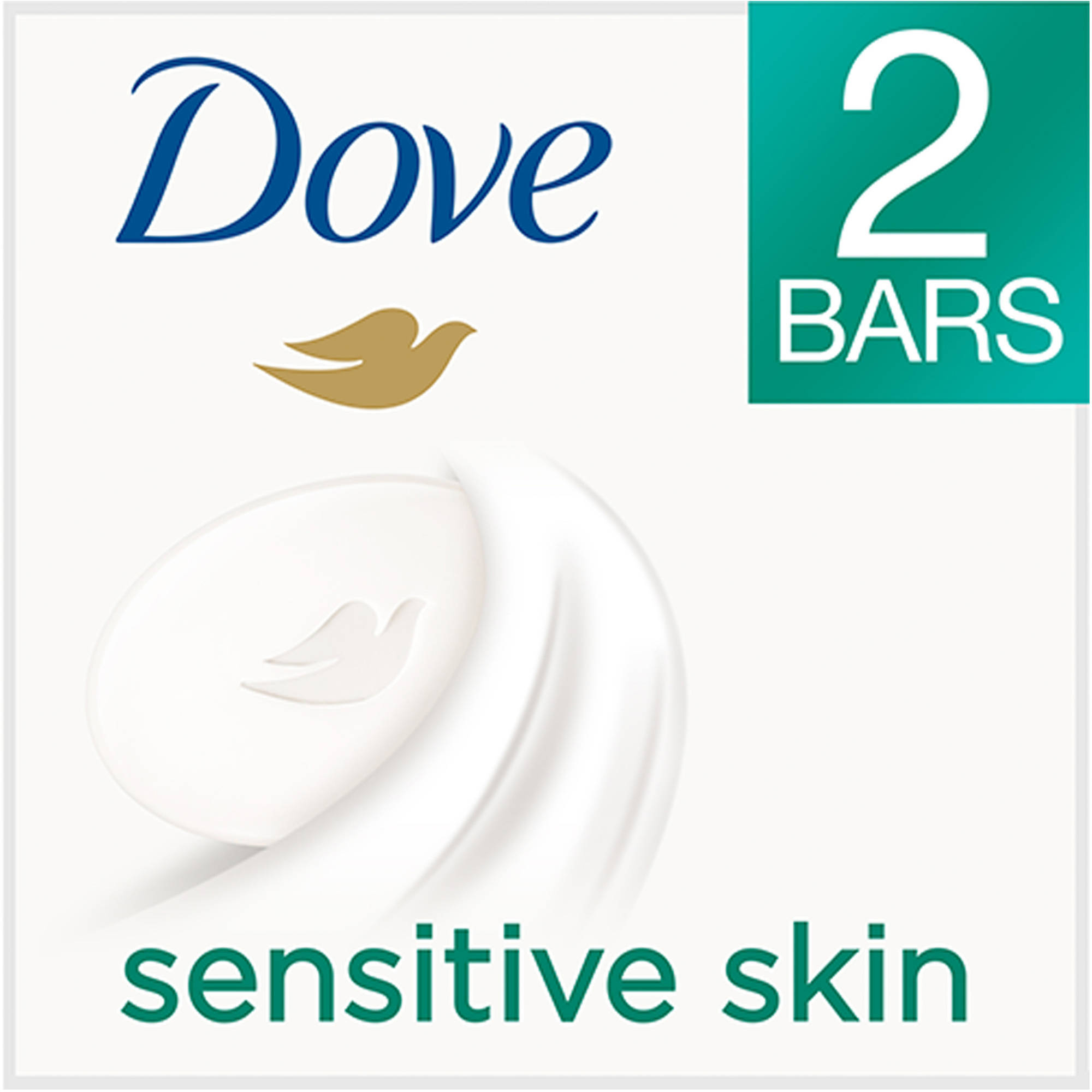 Dove Sensitive Skin Beauty Bar, 4 oz, 2 Bar