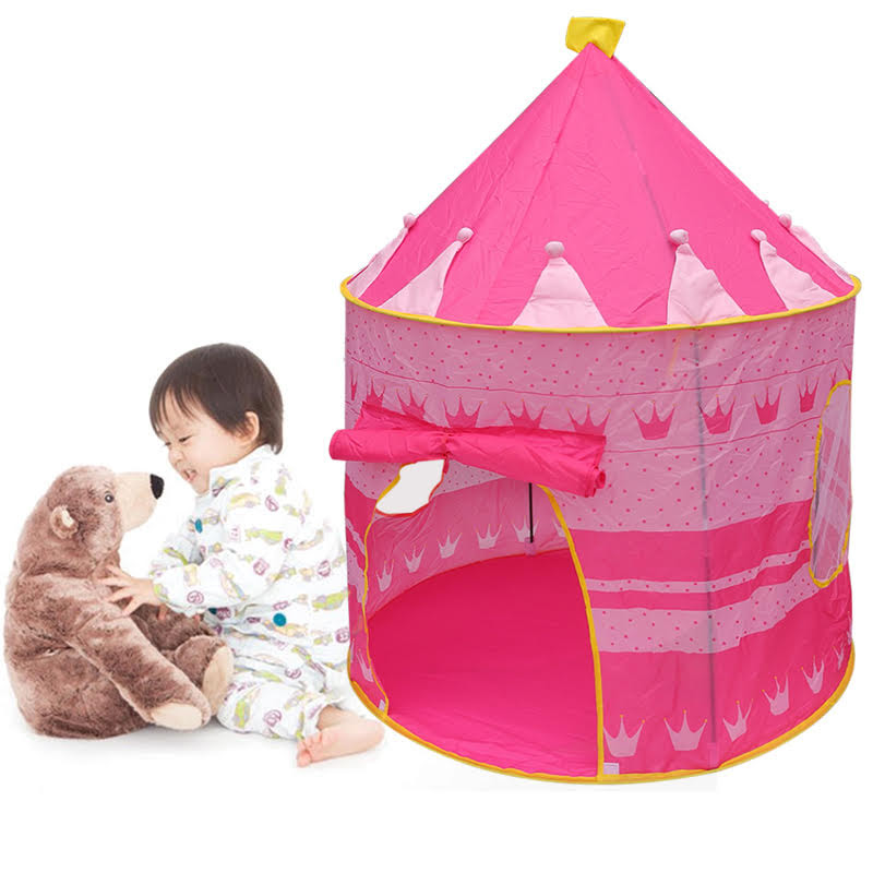 Kids Tent Toy Prince Playhouse - Toddler Play House Blue Castle for Kid Children Boys Girls Baby for Indoor & Outdoor Toys Foldable Playhouses Tents with Carry Case Great Birthday Gift Idea