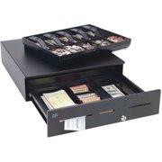 MMF POS Advantage Cash Drawer Stainless, 3 Slots Drop-Safe, 18x16.7, US Till - Black ADV-113B11321-04