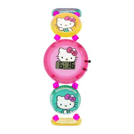 Kids Elastic Bracelet Stretch LCD Watch