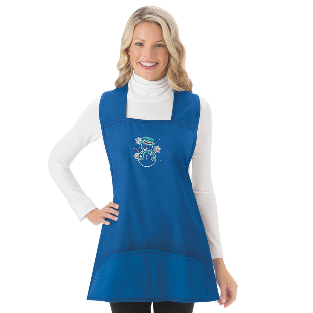 Christmas Holiday Cobbler Aprons, X-Large, Blue