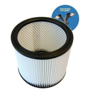 HQRP H12 Cartridge Filter for Shop-vac 90304 (Type U) Replacement; Full Size Vacs, 903-04-00 / 903-04 for most Wet / Dry Vacuum plus HQRP Coaster