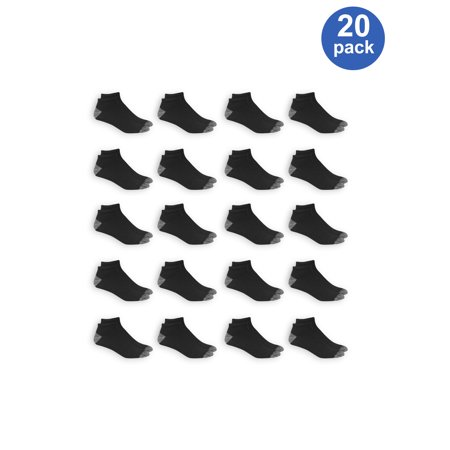 - Athletic Works Men's Athletic Cushioned Low Cut Socks Value 20 Pack